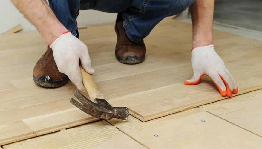 Laying a hardwood floor