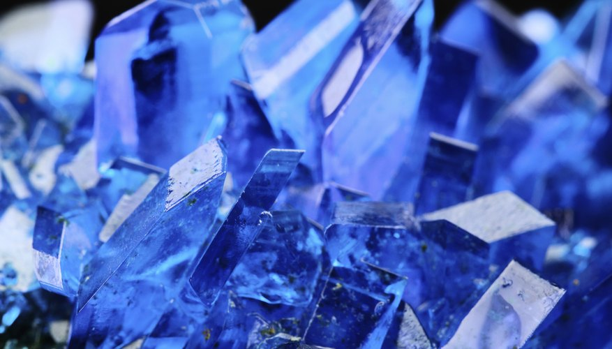 Crystals typically form as the result of some kind of chemical reaction.