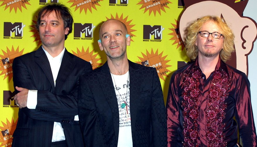 Peter Buck and his band mates.
