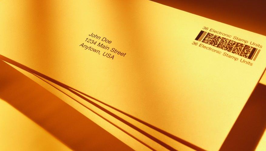 toned shot of envelopes