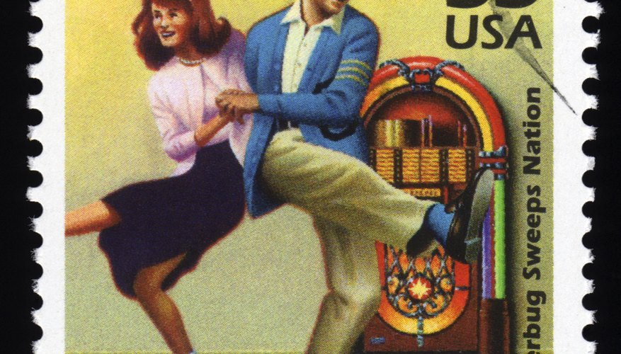 U.S. stamp with 1950's couple dancing