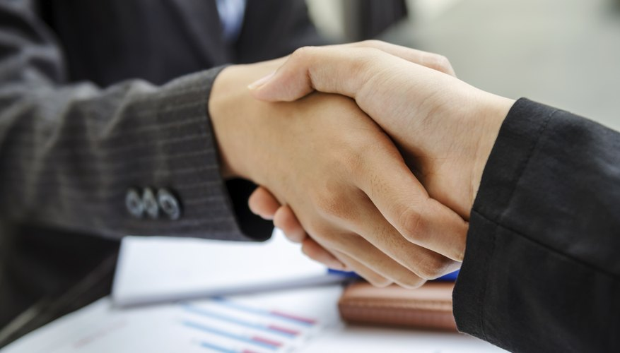 Business handshake agreement