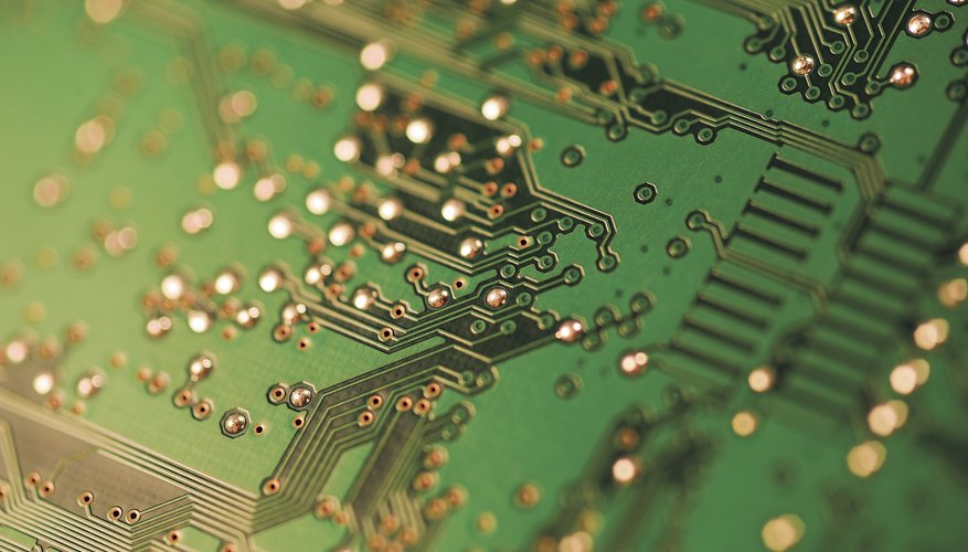 Closeup of a circuit board.