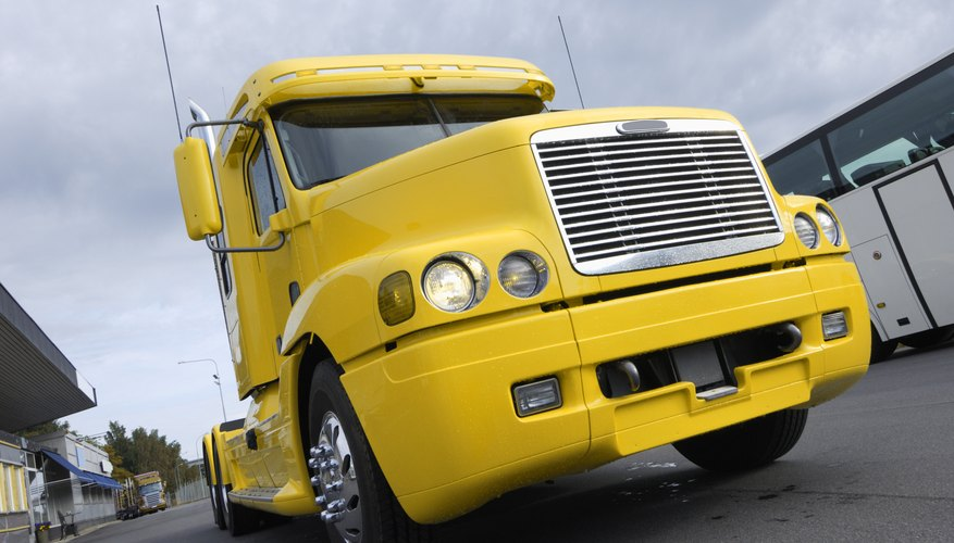 super truck in yellow