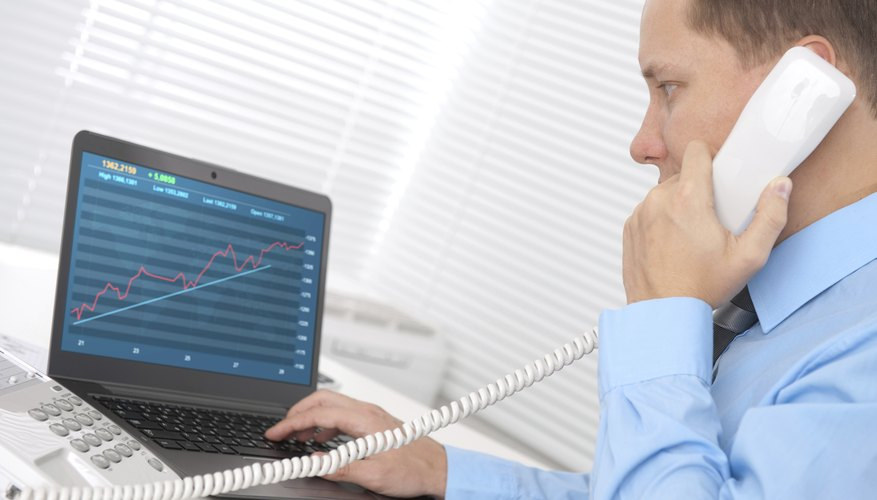 Broker on phone with client