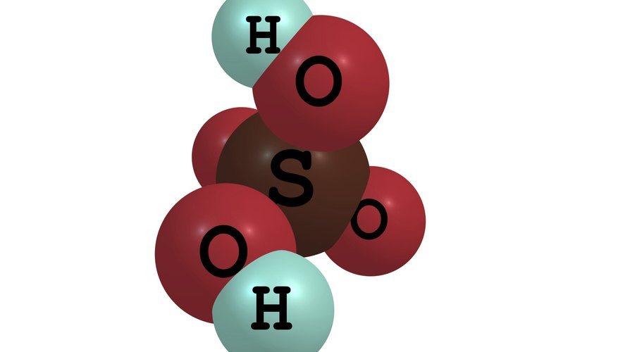 The two hydrogen atoms are released by sulfuric acid in aqueous solution and are transferred to water molecules.