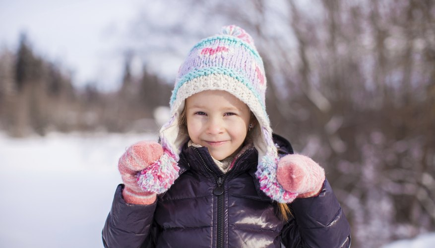 Child in snow gear outside
