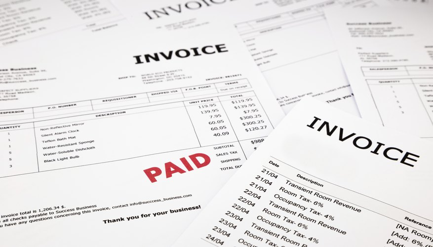 what is an invoice title bizfluent