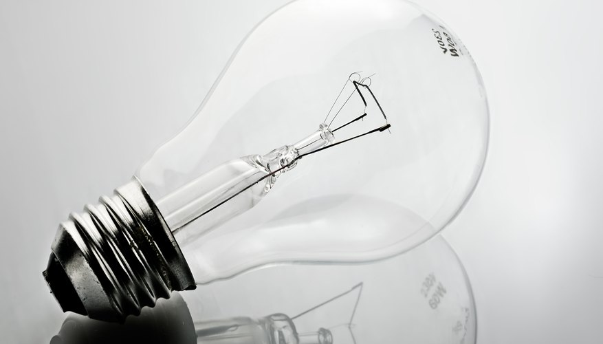 An incandescent light bulb.