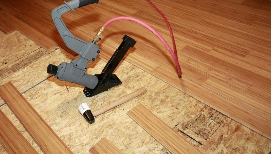 Installing a bamboo floor