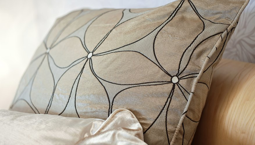 Accent pillow cover made of silk dupioni.