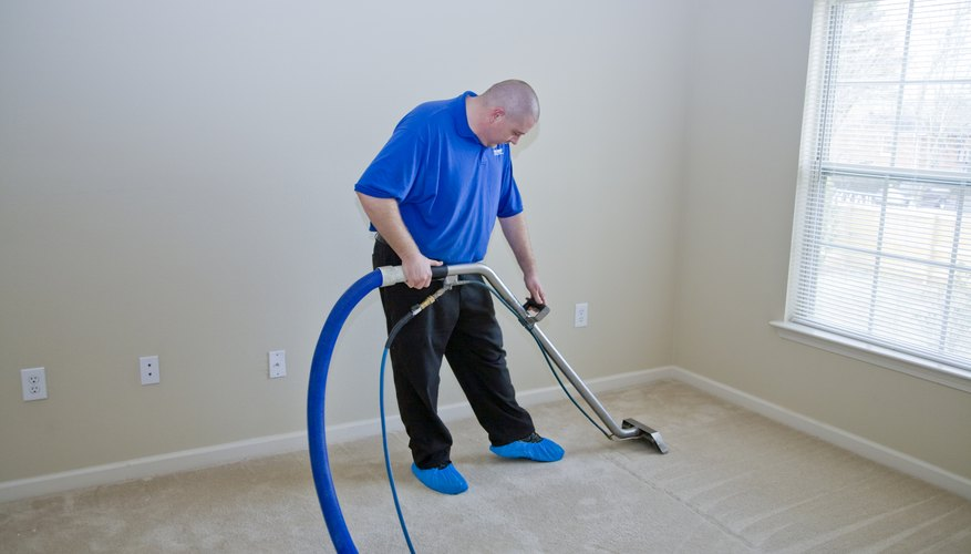 Steam clean carpeted floors.
