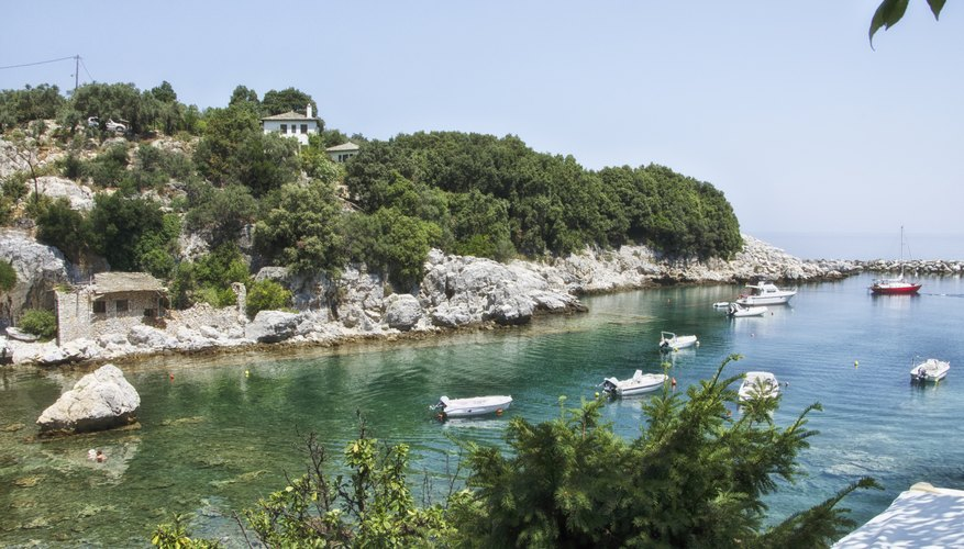 A view from island where Mamma Mia takes place.