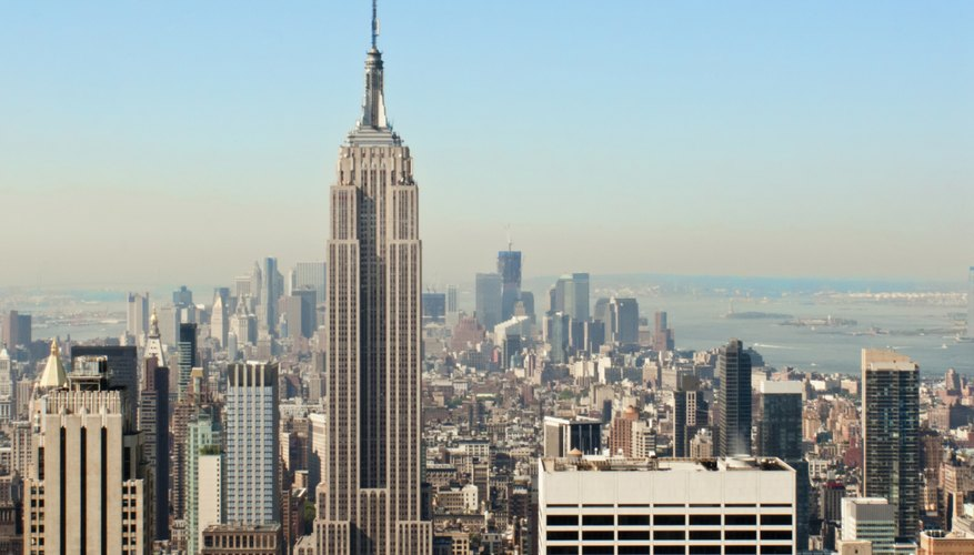 Wide shot of the Empire State Building in New York City.