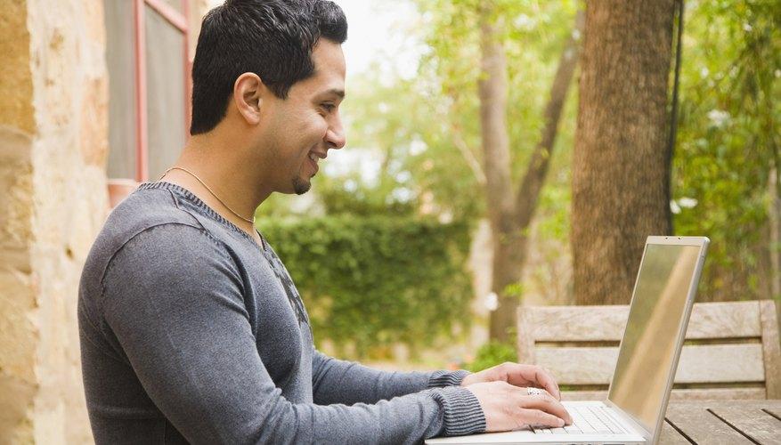 Man registering online