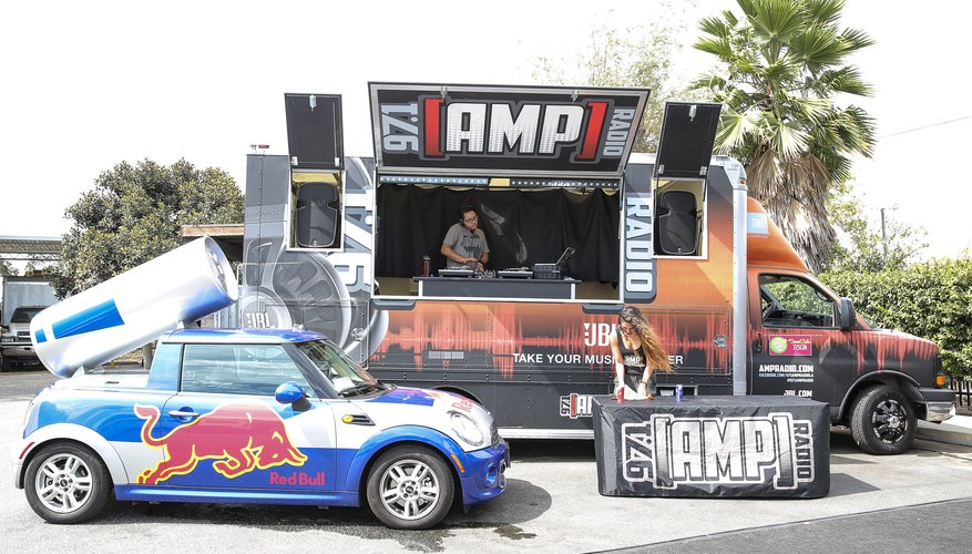 Red Bull and Amp energy drink vehicles