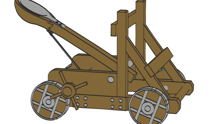 Catapults were the battle engines of choice in the wars of bygone centuries.