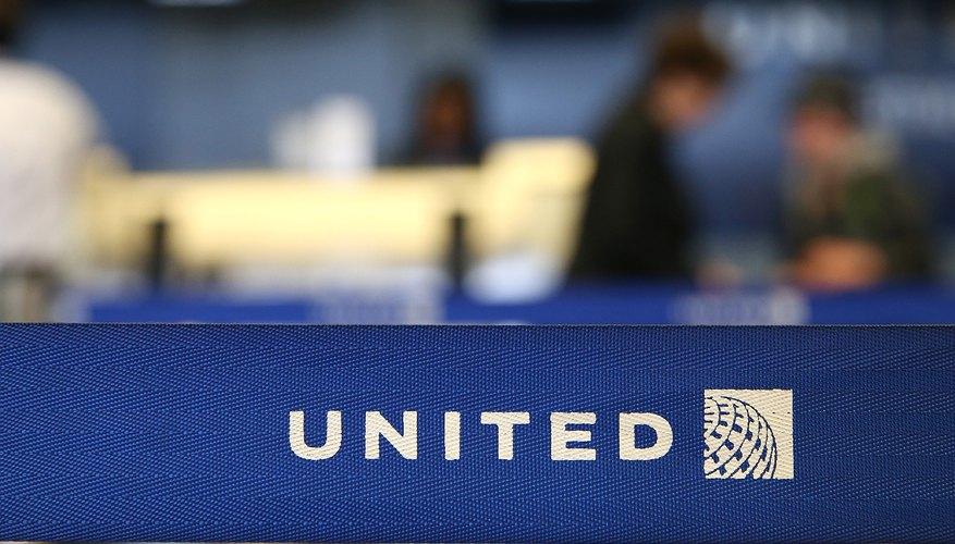 Detalle de la terminal de United Airlines