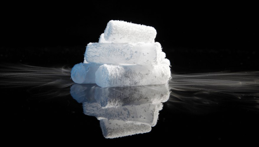 Dry ice is cold.