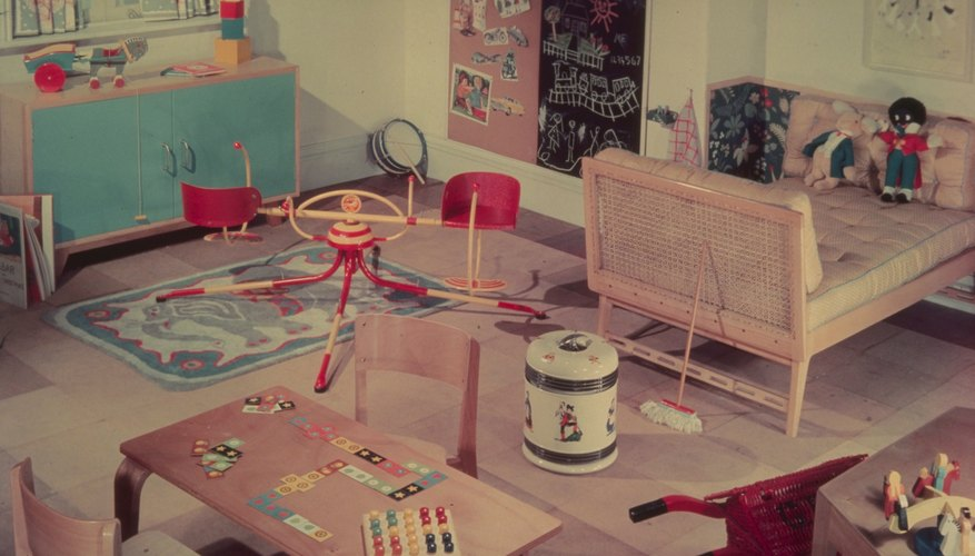 Circa 1950 child's playroom