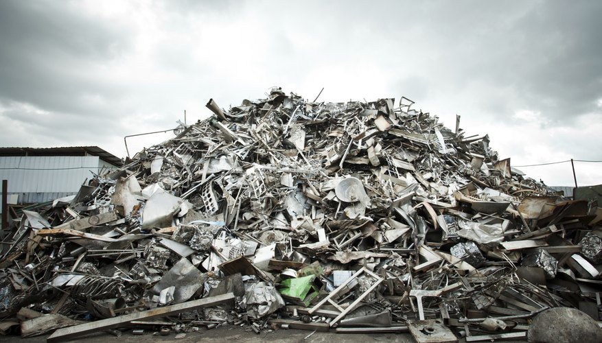 Pile of Aluminium scrap