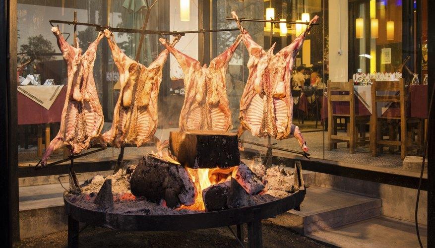 Cooking Goats over Coals