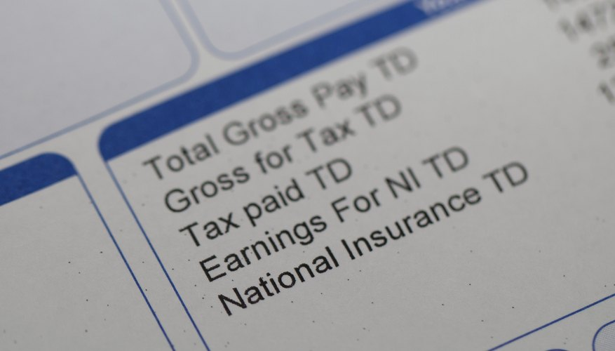 A close-up of the taxes paid to-date section of a paycheck.