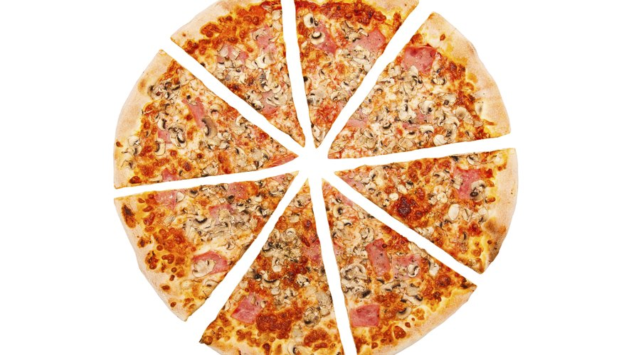 If you took one slice of pizza from a pizza that had been cut into eight equal pieces, you'd have one-eighth of the entire pizza.