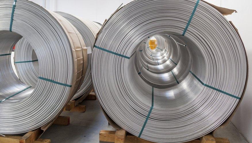 Spools of aluminum wire.