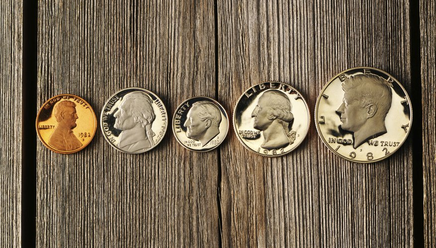 Five United States uncirculated coins