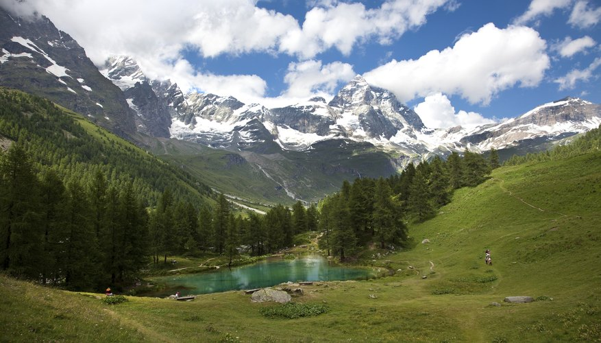 mountains and valleys exist harmoniously in nature