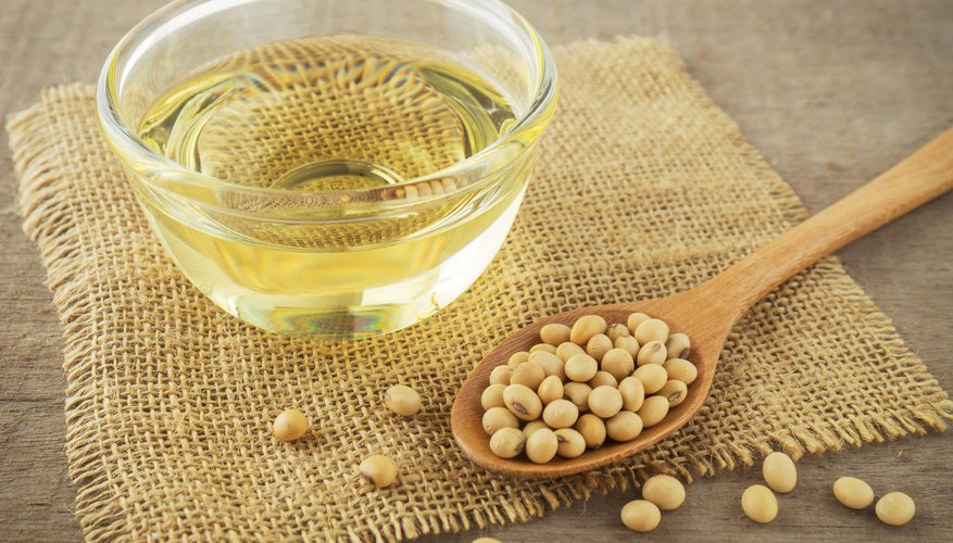 Soy beans and soy oil.