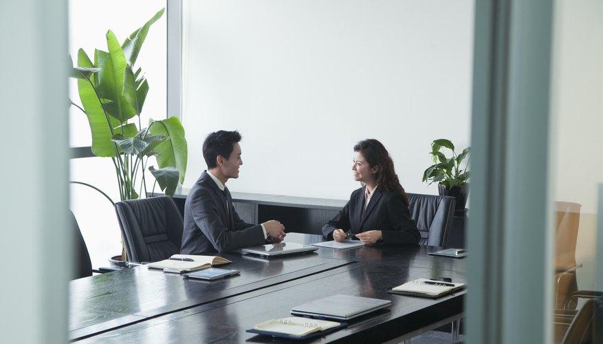 Co-workers in meeting room