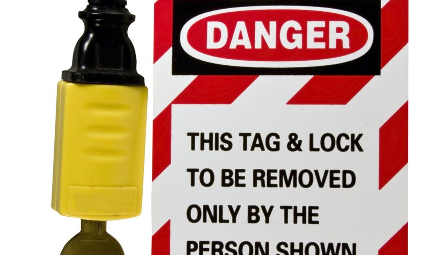 electrical cord lock out tag