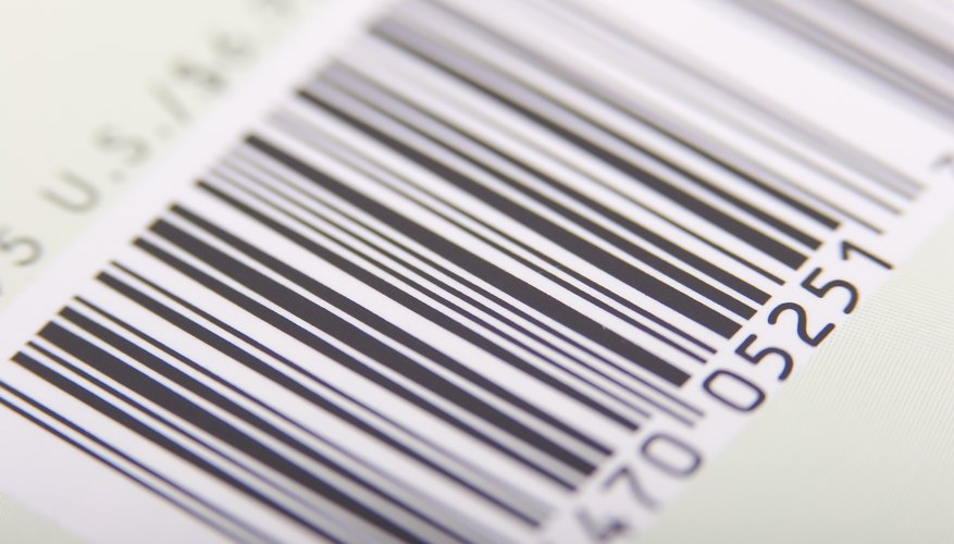 Close-up of a barcode