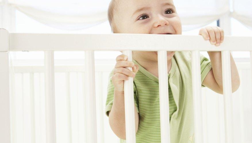 Many babies chew on crib railings to relieve teething pain.