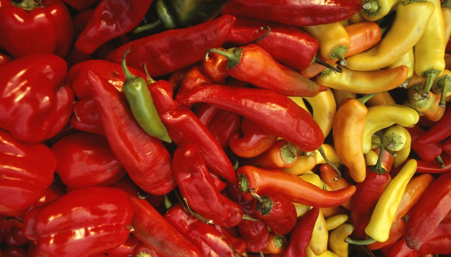 Hot peppers come in a variety of colors, shapes and sizes.