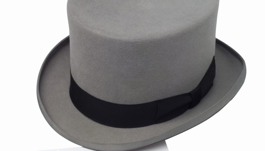 Mini top hats don't require much time to make.
