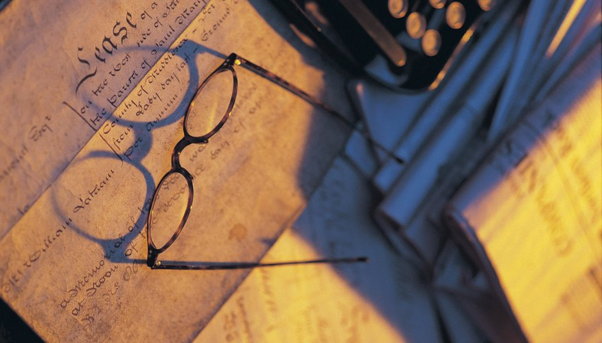 Spectacles on desk