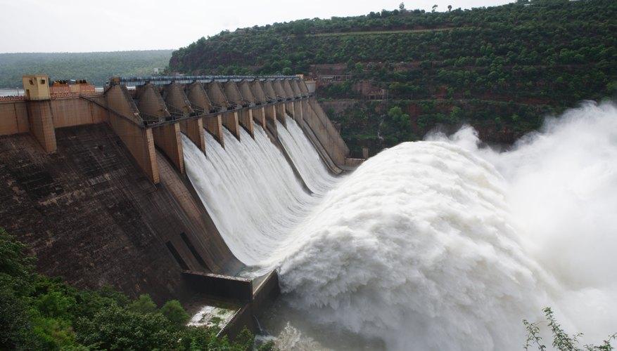 Represa hidroeléctrica.