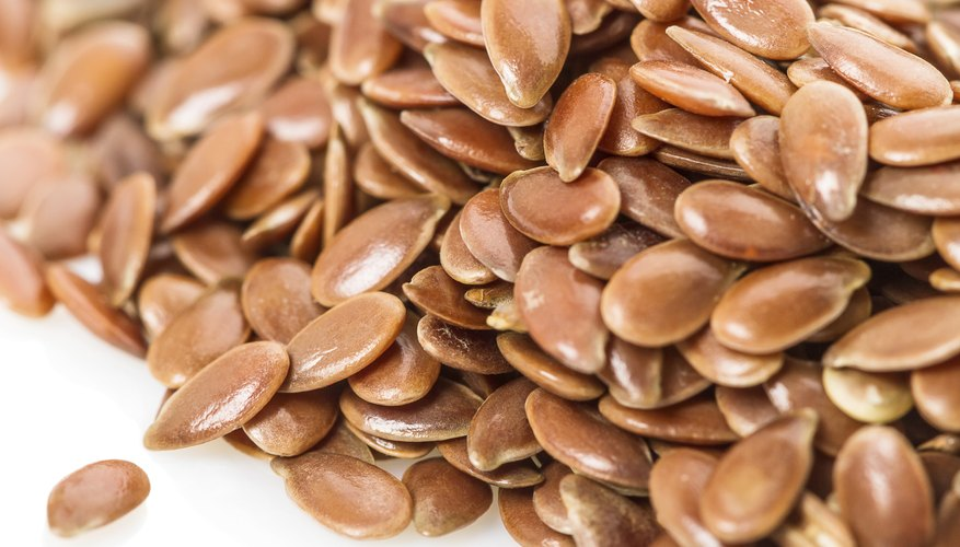 A close up of a pile of flaxseeds