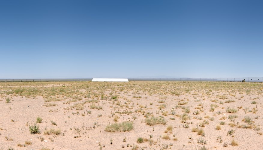 The Trinity test site where the first nuclear explosion test was done in New Mexico