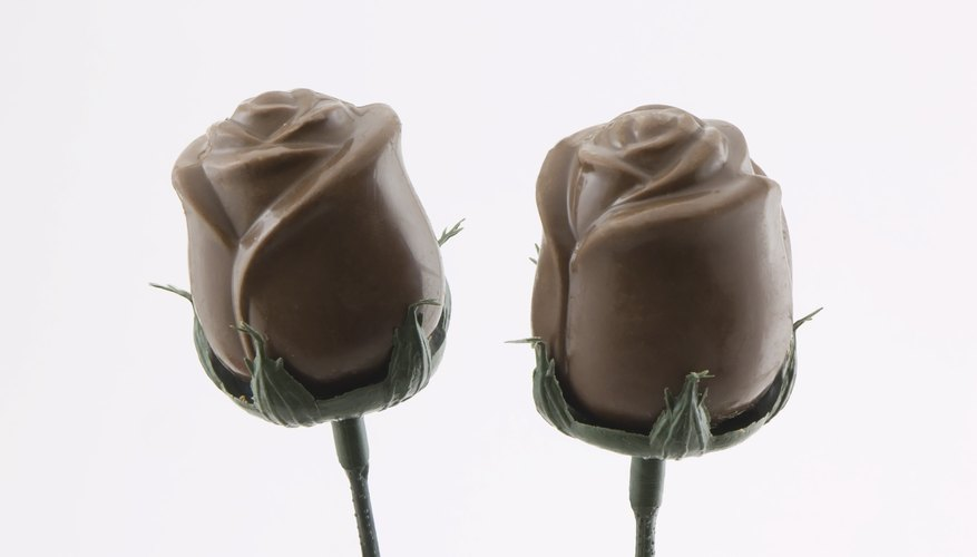 Chocolate flowers can serve as a tasty, original flourish for any occasion.