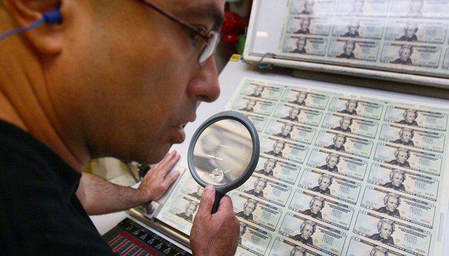 Dinero falso y verdadero