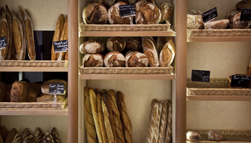 Bread at a French bakery