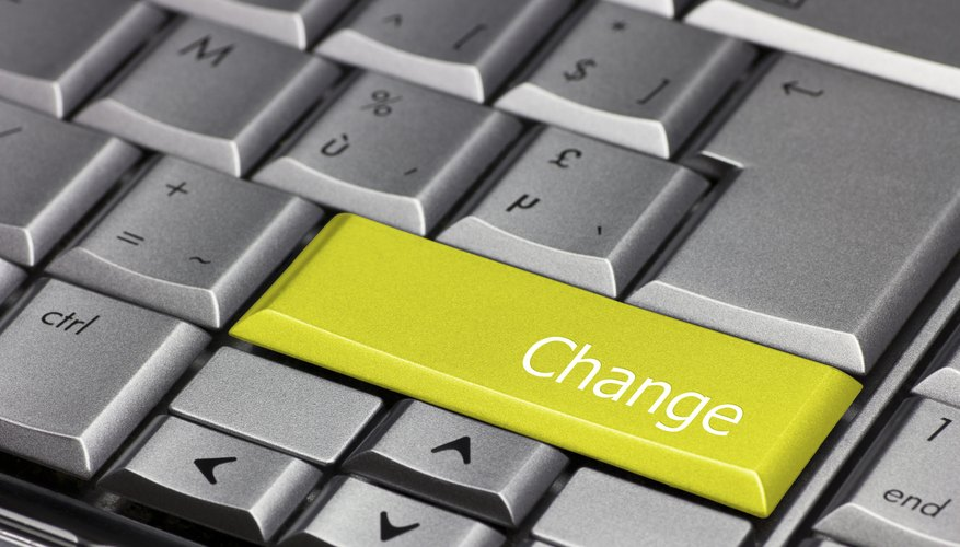 Computer Key Yellow - Change