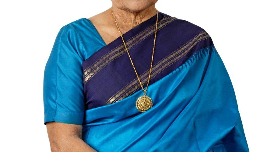 Una mujer en un sari.