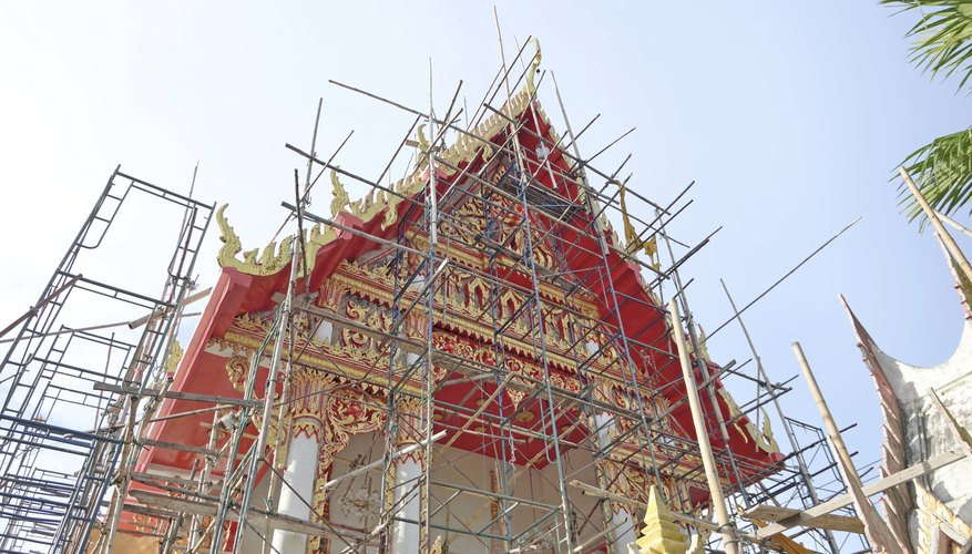 temple in renovation