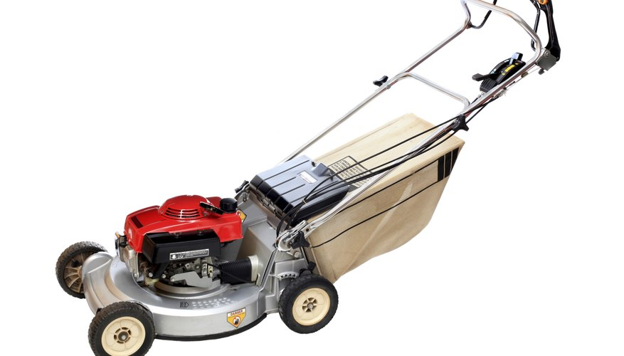 Self-propelled lawn mower.