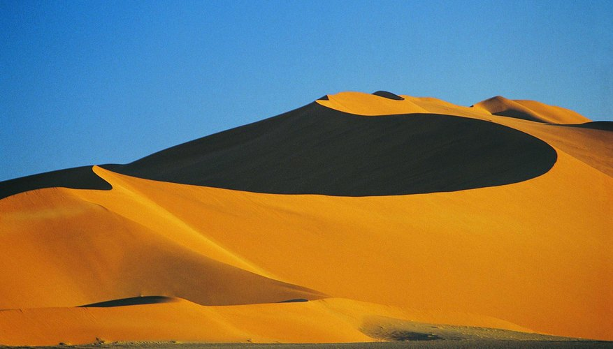 Africa's coastal Namib Desert has extensive areas of sand dunes.